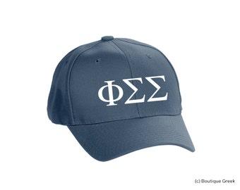 PhiSigma Phi Sigma Sigma Classic Letters Hat