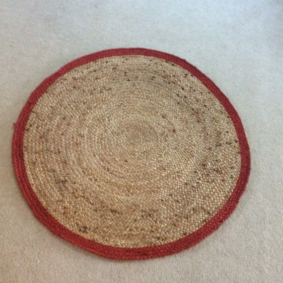 Round Braided Rug Indoor Outdoor Jute Area Rugs