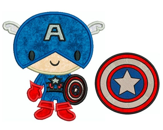 CAPTAIN AMERICA Machine Applique Embroidery 2 By