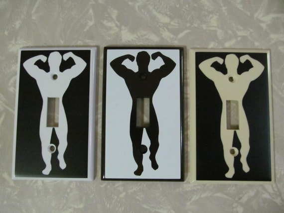 Custom Light Switch Plates Custom Muscle Man Light Switch Plate Cover Funny Penis