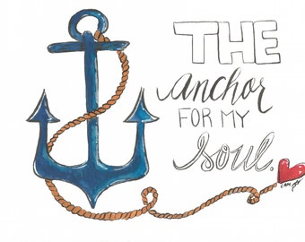 Anchor for my Soul Postcards-Set of 6