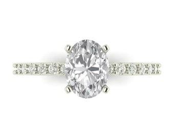 Custom Moissanite Engagement Ring| Custom Made Ring| Design Your Own Wedding Rings| Moissanite and Diamonds| Gold or Platinum