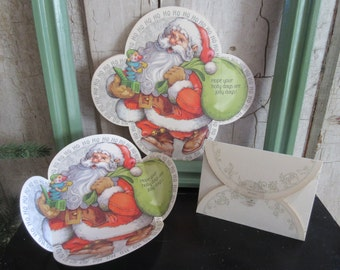 Fold & Seal Holiday Cheer Christmas Card Set of 21 Holiday Santa Greeting Cards Hallmark