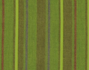 ALTERNATING STRIPE  Grass Woven walterx.grass by  Kaffe Fassett fabric sold in 1/2 yard increments