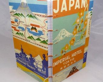 Japan Hand-sewn Map Journal