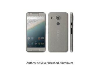 Nexus 5X Full Body Wrap DECAL Sticker Skin Kit Metal series by Stickerboy - Set 1