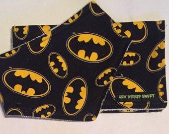 Batman bandana bib and burp rag set