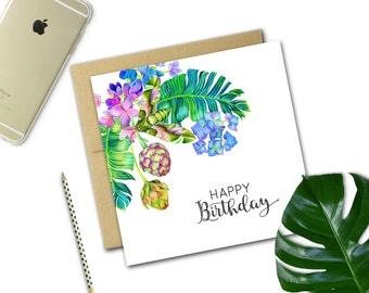 Birthday Card {TROPICAL BLOOMS}