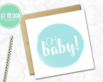 Oh Baby Mini Card {VARIOUS COLOURS}