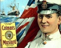 1930's Colmans Mustard Advertisement Poster A3/A2 Print