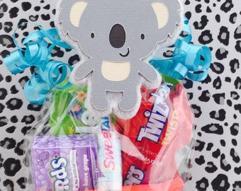Safari Candy - Zoo Themed Baby Shower - Zoo Baby Shower Favors - Jungle Safari Birthday Favors - Zoo Gift - Koala Tag