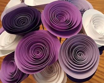 Purple Paper Flower Arrangement, Purple Paper Flowers, Purple Centerpiece, Purple Wedding Flowers, Purple Wedding Centerpiece