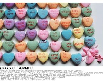 500 Days of Summer (Marc Webb, 2009) [minimalist movie poster; alternative movie poster]