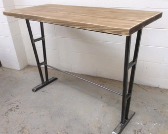 Rustic Industrial Breakfast Bar Table