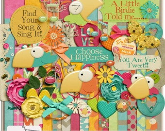 Little Birdie Digital Scrapbook Kit
