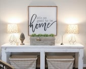 """PRE-ORDER 13x13"""" it's so good to be home 