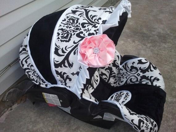 4 PC Custom Infant Car Seat Cover Boutique Infant Car Seat Custom Baby Boy Car Seat Covers