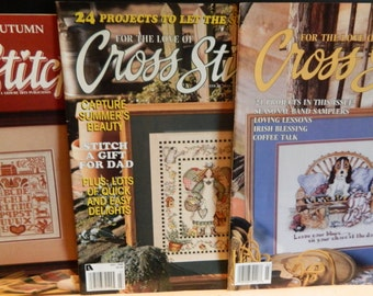 Cross Stitch Magazines - For the Love of Cross Stitch - Vintage Cross Stitch - Leisure Arts Magazine