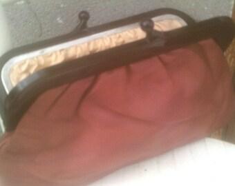 sale vintage 1970s red clutch bag