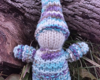 Hand Knitted Wool Gnome, Waldorf toy, Waldorf doll, Natural toy, Eco toy, Birthday gift
