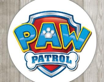 "Paw Patrol 1.5"" 0r 2.5"" Envelope Seal/Favor Sticker/Lollipop sticker"