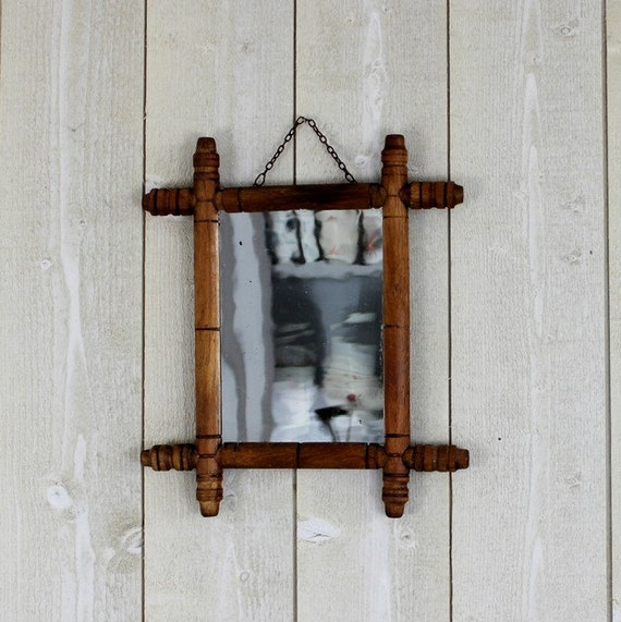 Antique Mirror French Mirror Faux Bamboo Wall Mirror