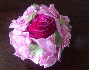 Pink Rose Fascinator Hat by Chanda