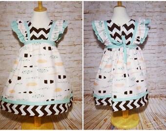 Double Ruffle Sleeve Dress