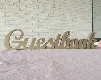 wood sign Guest book for Wedding