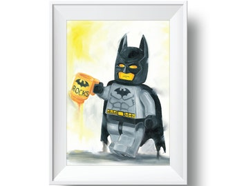 Batman Rocks Print