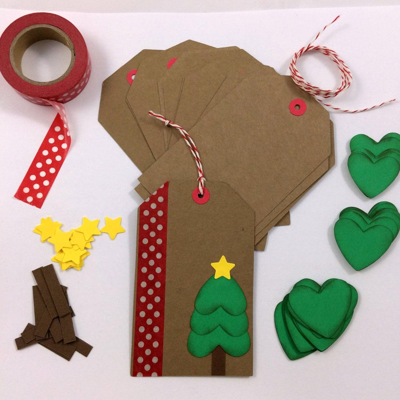 DIY Holiday Christmas Gift Tag Kit Makes 12 by BumpOfKnowledge