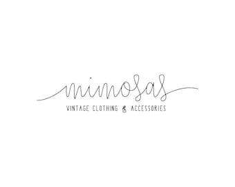 Custom Logo Design // Handwritten Logo // Vintage Clothing Logo // Boutique Logo Design // Shop Logo