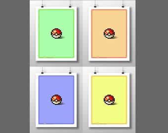 Monster Capture Ball Print *CHOOSE*
