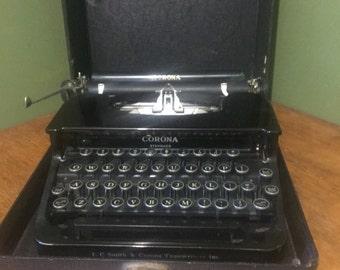 vintage corona typewriter 1920s, CORONA standard