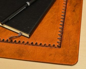 Desk Pad - Office Blotter Pad - in Full Grain Leather
