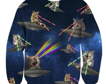 Galaxy UFO cats Sweatshirt
