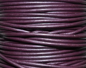 Berry - 3mm Leather Cord per yard