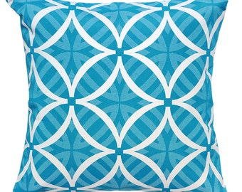 Ocean Turquoise Reverse Outdoor Cushion Covers
