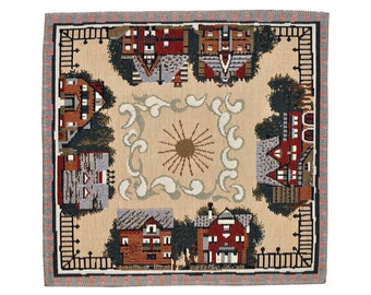 Village Tapestry Placemats Set of 6 - 32x32cm