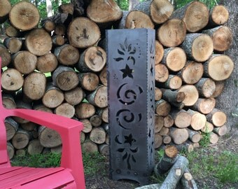Stars and Swirls Vertical Fire Pit