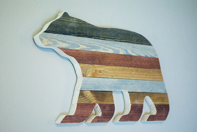 Rustic bear silhouette rustic home decor rustic by for Rustic bear home decor