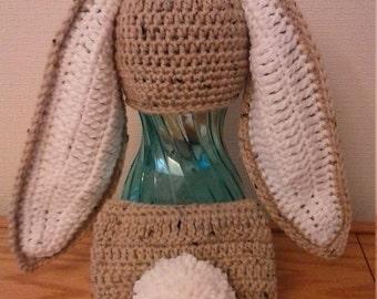 Floppy Long Eared Bunny Rabbit Easter Photo Prop Crochet Hat Beanie Diaper Cover Babies