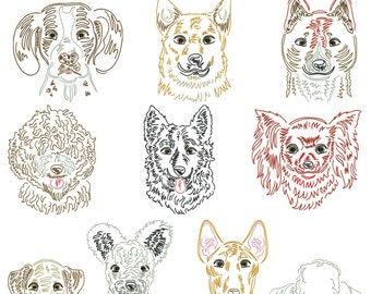 Dog breeds part 15 for the border 10x10cm