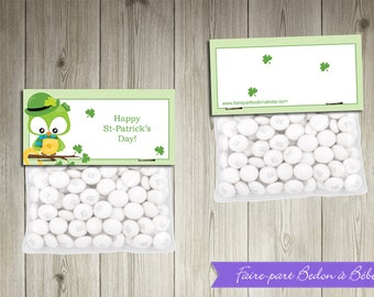 St-Patrick Treat Toppers - Printable party decorations