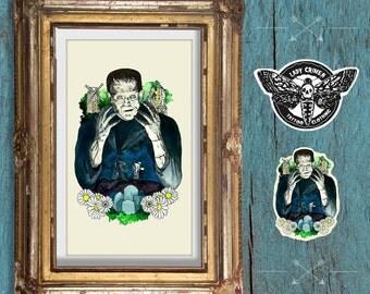 Illustration Frankenstein