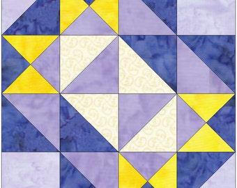 Belt Buckle Template Quilting Block Pattern Paper Piece PDF
