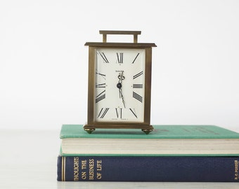 Vintage Swiza 8 Alarm Clock, Small Brass Clock, Old Alarm Clock, Swiza Swiss Made Clock, Vintage Interior Design Decor, Desk Clock