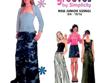 Simplicity Sewing Pattern 8921 Junior's Skirt, Pants, Kit Top, Jacket  Size:  BB  11/12 - 15/16  Uncut