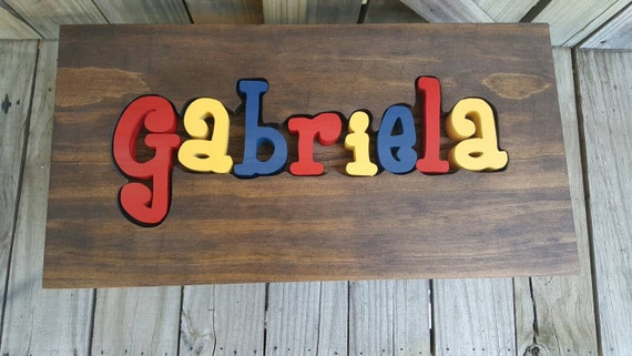 Puzzle Name Step Stool Personalized Step Stool Nursery