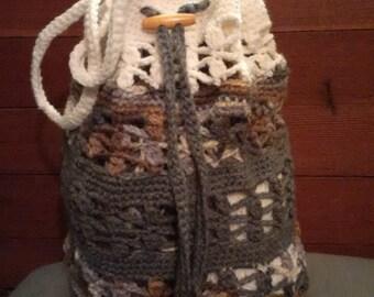 Crochet Market Beach Bag